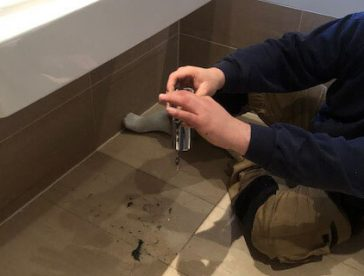 bathroom pipe replacement